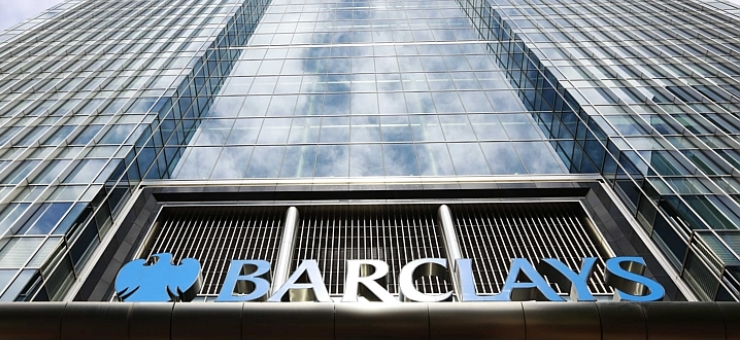 Barclays bank headquarters in Canary Wharf, east London