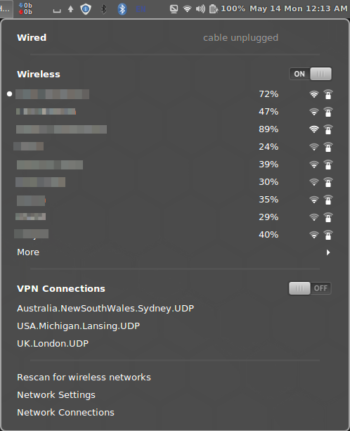 VPN setup with network manager GUI