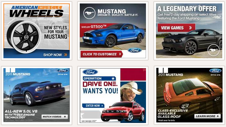 ford mustang display ads